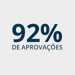 92% de aprovações
